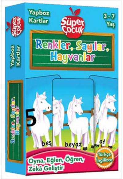 Yapboz Kartlar Renkler, Sayılar, Hayvanlar 3 7 Yaş Oyna Eğlen Öğren Zeka Geliştir