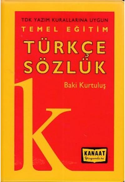 Temel Eğitim Türkçe Sözlük Plastik Kapak