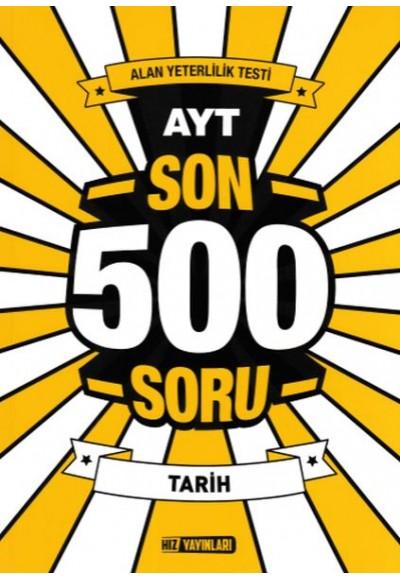 Hız AYT Tarih Son 500 Soru Yeni