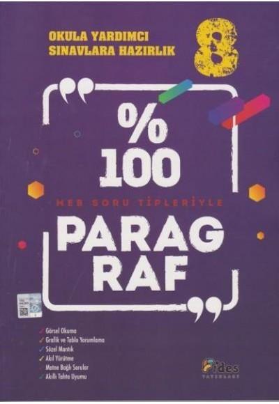 Fides 8. Sınıflar İçin Yüzde 100 Paragraf Yeni