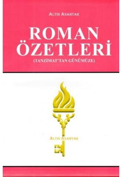 Roman Özetleri (Tanzimat'tan Günümüze)