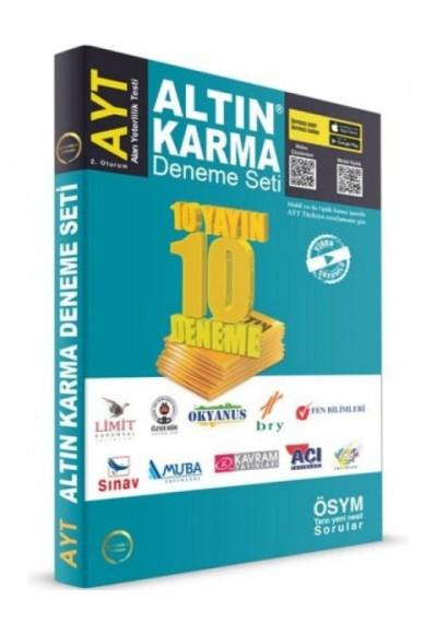 Altın Karma Deneme Seti AYT 10 Farklı Yayın 10 Farklı Deneme Yeni