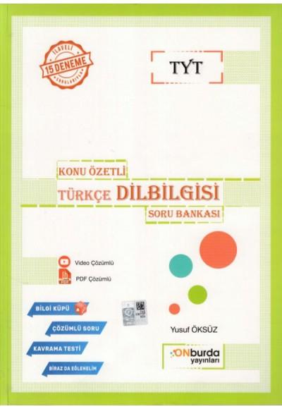 Onburda TYT Türkçe Dil Bilgisi Konu Özetli Soru Bankası