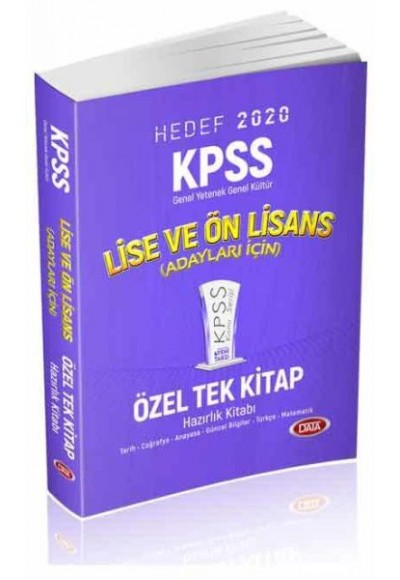 Data KPSS Lise ve Ön Lisans Tek Kitap 2020