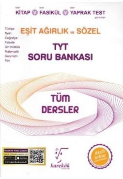 Karekök TYT Tüm Dersler Eşit Ağırlık ve Sözel Soru Bankası (Yeni)