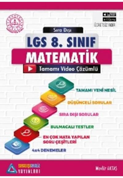 Sıradışı Analiz LGS 8. Sınıf Matematik Video Çözümlü Soru Bankası (Yeni)