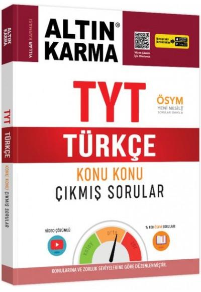 Altın Karma TYT Türkçe Konu Konu Çıkmış Sorular Yeni