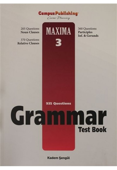Grammar Test Book - Maxima 3