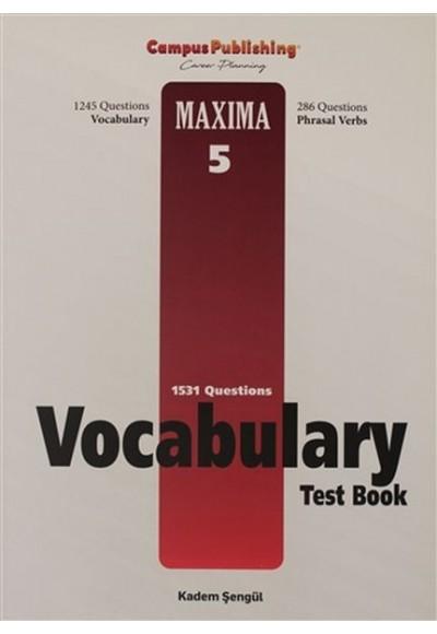 Vocabulary Test Book - Maxima 5