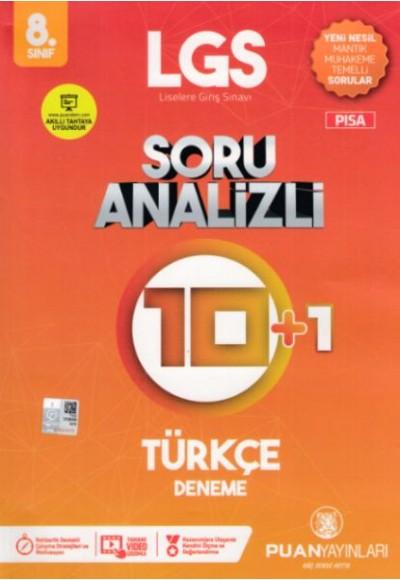 Puan LGS 8. Sınıf Soru Analizli 10 1 Türkçe Deneme Yeni