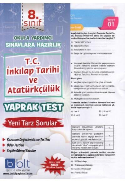 Bulut 8.Sınıf T.C. İnkılap Tarihi ve Atatürkçülük Yaprak Test (Yeni)
