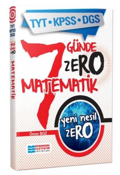 Evrensel İletişim TYT KPSS DGS 7 Günde Zero Matematik Yeni
