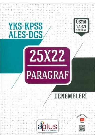 APlus YKS KPSS ALES DGS Paragraf 25x22 Denemeleri Yeni