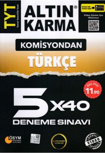 Altın Karma Komisyondan TYT Türkçe 5X40 Deneme Sınavı Yeni