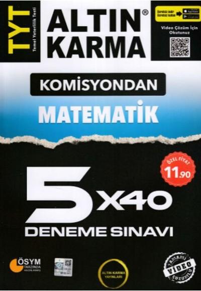 Altın Karma Komisyondan TYT Matematik 5x40 Deneme Sınavı Yeni