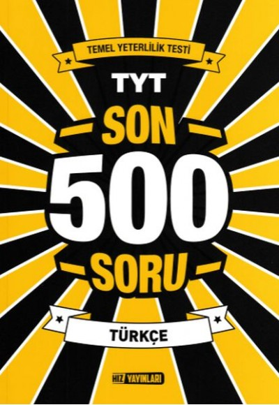 Hız TYT Son 500 Soru Türkçe Yeni