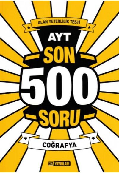 Hız AYT Son 500 Soru Coğrafya Yeni