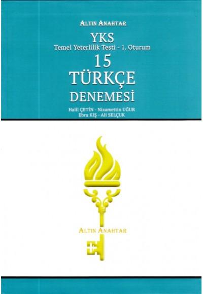 Altın Anahtar YKS TYT 15 Türkçe Denemesi