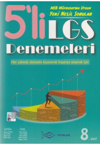 Etkin Yayınları 5'li LGS Denemeleri Yeni
