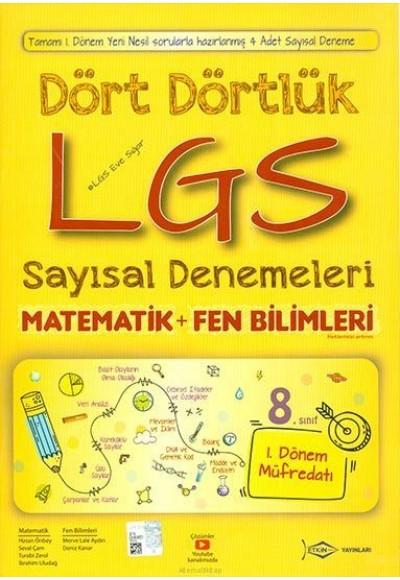 Etkin Dört Dörtlük LGS Sayısal Denemeleri Yeni
