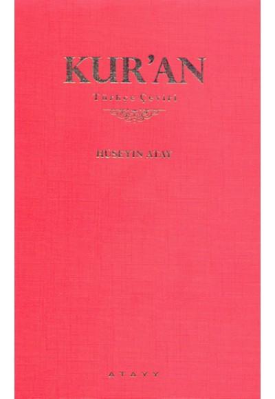 Kur'an Türkçe Çeviri kırmızı kapak