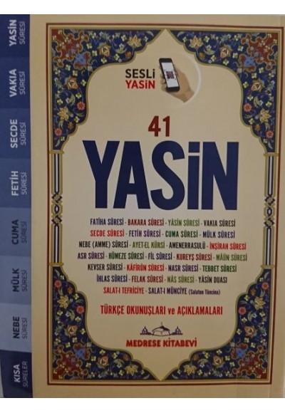 Türkçe Okunuşlu ve Mealli, Sesli 41Yasin i Şerif Çanta Boy