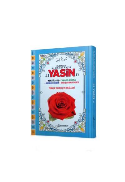 41 Yasin Fihristli Türkçe Okunuşlu (Orta Boy - Ciltli) Kod:F030