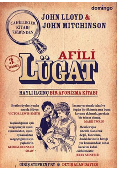 Afili Lügat (Ciltsiz)  Hayli İlginç Bir Aforizma Kitabı