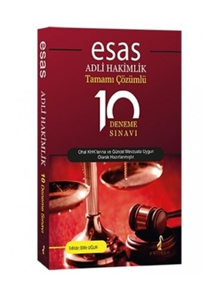 Esas Adli Hakimlik Tamamı Çözümlü 10 Deneme Sınavı