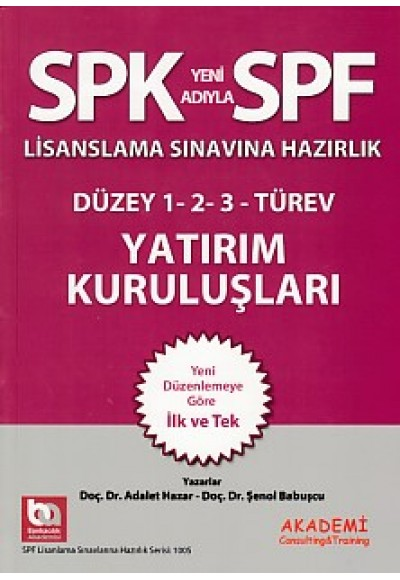 SPK SPF Yatırım Kuruluşları
