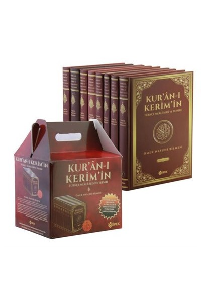 Kur'an-ı Kerim'in Türkçe Meali ve Tefsiri (8 Cilt Takım-Şamua Kağıt)