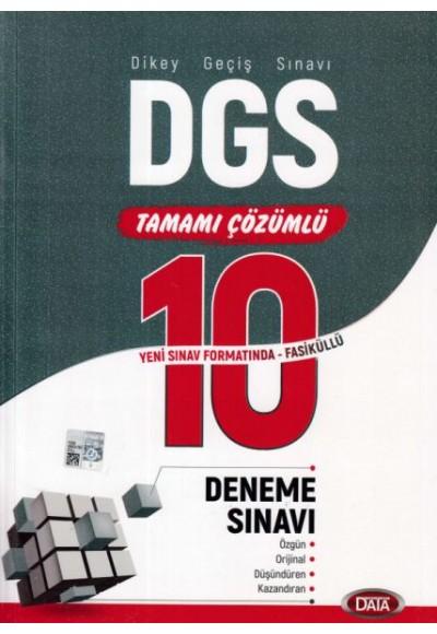 Data DGS Tamamı Çözümlü 10 Deneme Sınavı Yeni