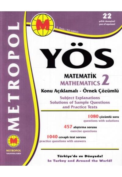 Metropol YÖS Matematik 2 Konu Açıklamalı Örnek Çözümlü Yeni