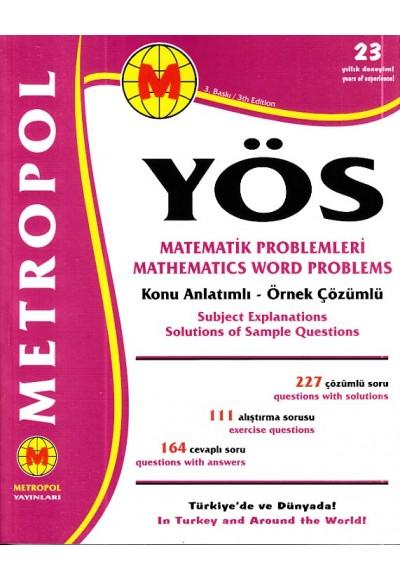 Metropol YÖS Matematik Problemleri Konu Anlatımlı Örnek Çözümlü Yeni