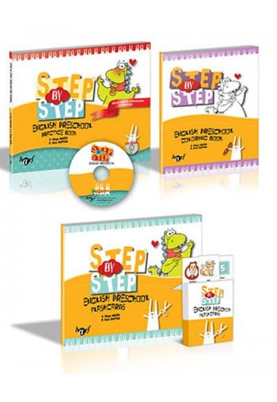 Step By Step Prescholl Book Coloring Books Flashcards Cd