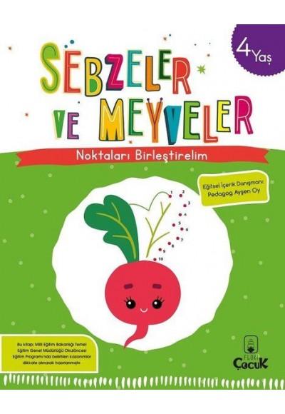 Noktaları Birleştirelim - Sebzeler ve Meyveler 4 Yaş