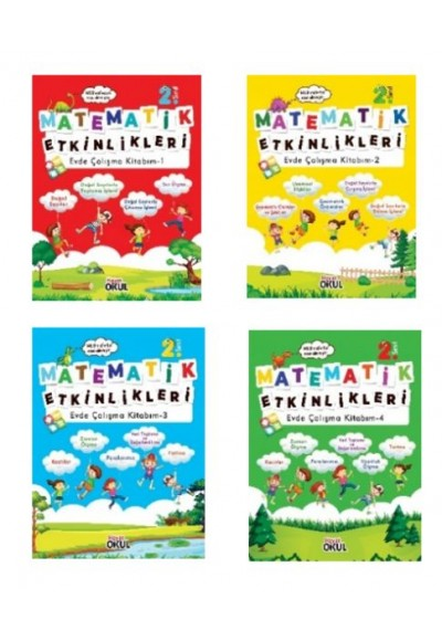 Matematik Etkinlikleri 2.Sınıf Evde Çalışma Kitabım (4 Kitap Takım)