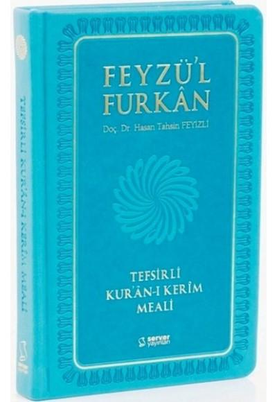 Feyzü'l Furkan Tefsirli Kur'an ı Kerim Meali Cep Boy Sadece Meal Ciltli Turkuaz