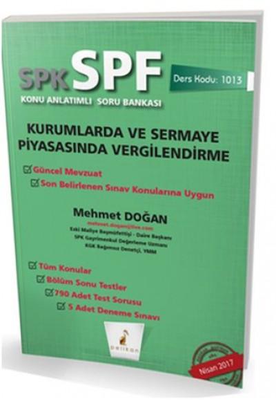 SPK SPF Kurumlarda ve Sermaye Piyasasında Vergilendirme Konu Anlatımlı Soru Bankası
