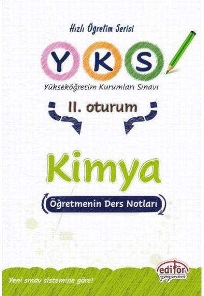 Editör YKS Kimya 2. Oturum Öğretmenin Ders Notları