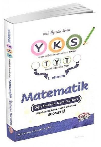 Editör YKS 1. Oturum TYT Matematik Öğretmenin Ders Notları