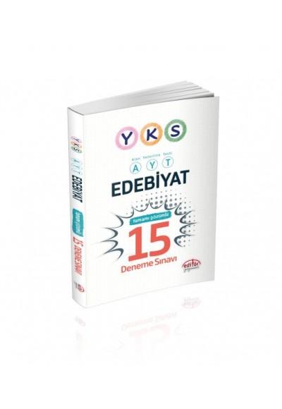 Editör YKS Edebiyat Tamamı Çözümlü 15 Deneme Sınavı