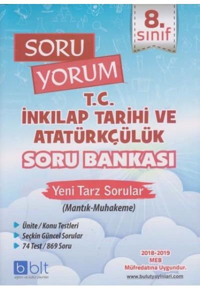 Bulut 8. Sınıf Soru Yorum T.C. İnkılap Tarihi ve Atatürkçülük Soru Bankası