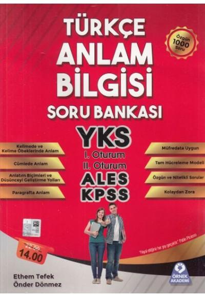 Örnek Akademi Türkçe Anlam Bilgisi Soru Bankası Yeni