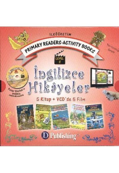 İngilizce Hikayeler Level 2 5 Kitap Vcd'de 5 Film İlköğretim Prımary Readers Actıvıty Books