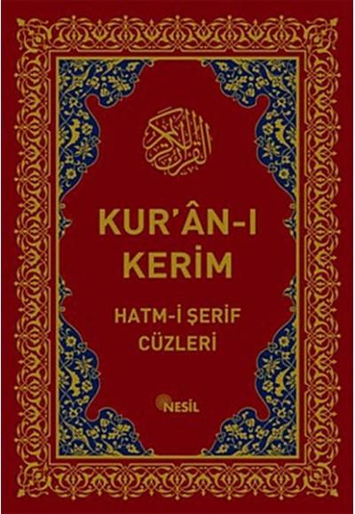 Kur'an ı Kerim Hatm i Şerif Cüzleri Kutulu