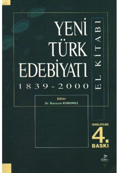 Yeni Türk Edebiyatı El Kitabı 1839 2000