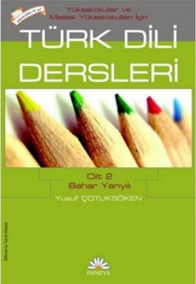 Türk Dili Dersleri Cilt 2 Bahar Yarıyılı