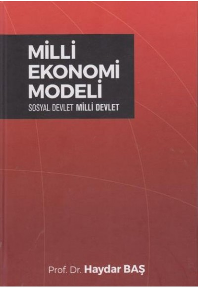 Milli Ekonomi Modeli Ciltli