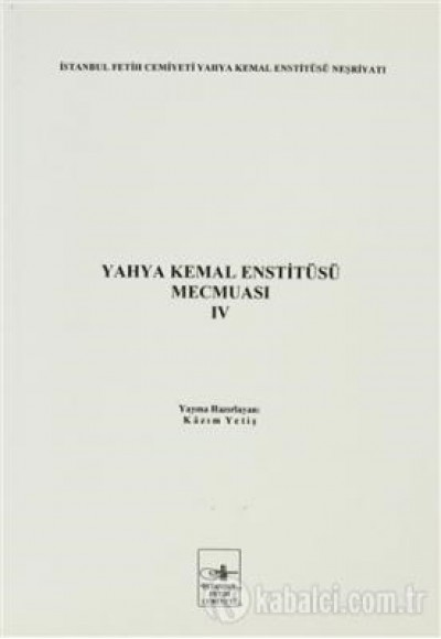 Yahya Kemal Enstitüsü Mecmuası 4. Cilt
